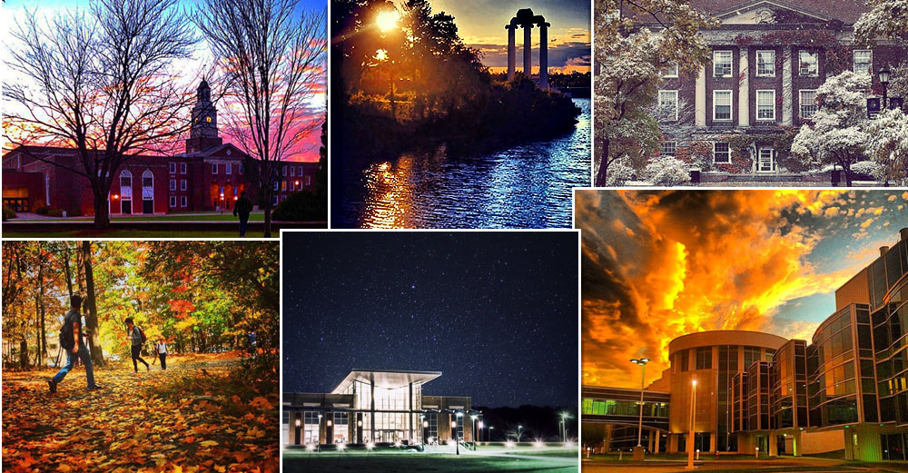 collage of SUNY instagram photos