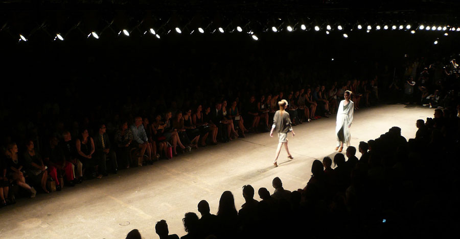 Fashion Show Runway With 2 Models Walking