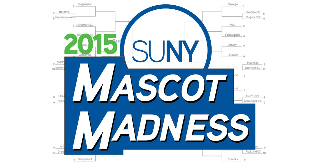 Mascot Madness 2015 logo over bracket