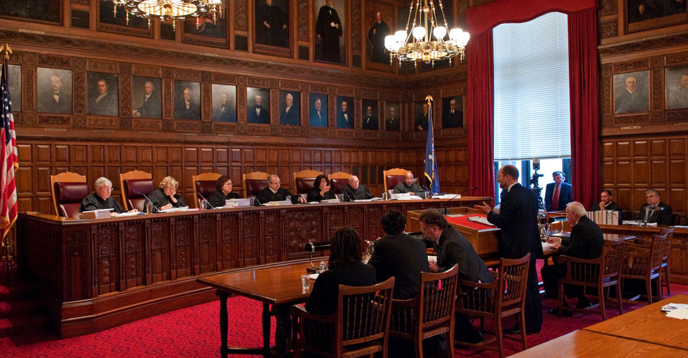 NY Court of Appeals during oral arguments.