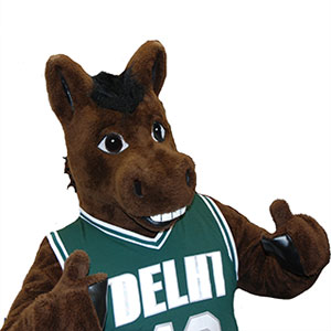 Lucky the Bronco from SUNY Delhi