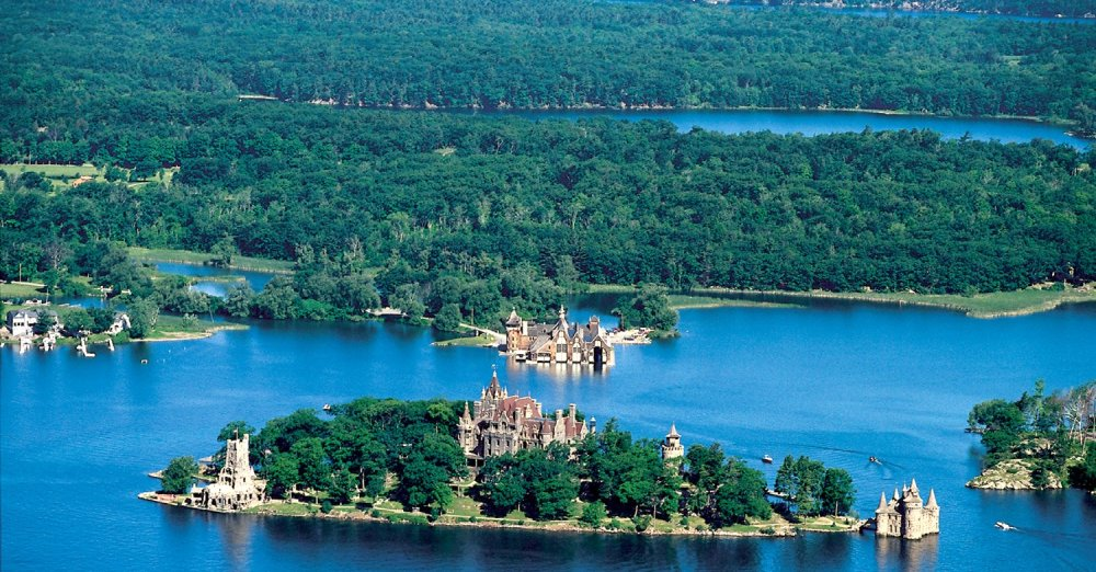 Boldt Castle aerial view in the 1000 Islands