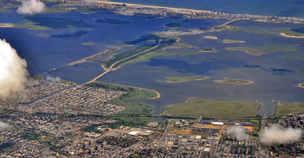 Jamaica Bay in NYC aerial view