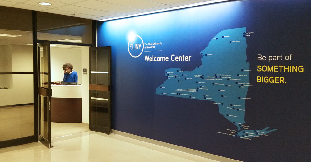 SUNY in NYC welcome center interior