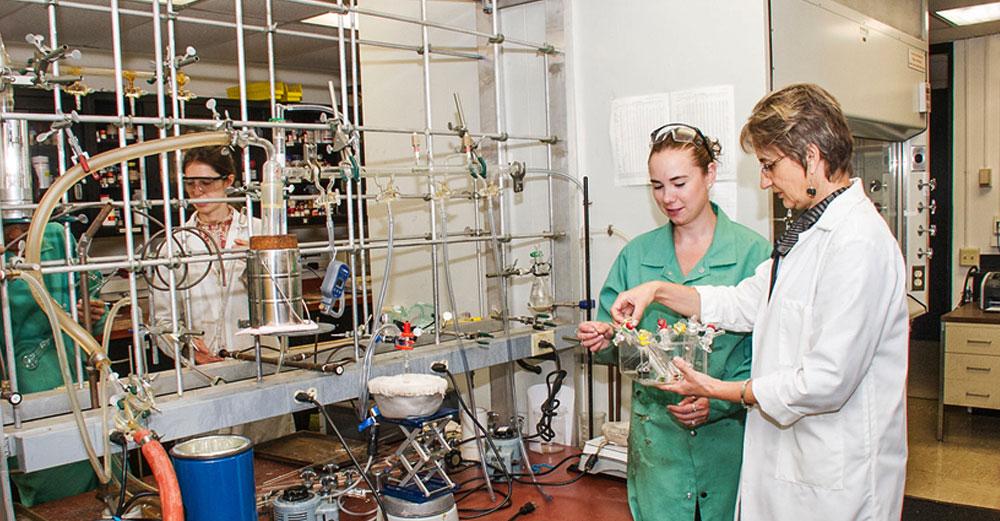 Marina Petrukhina of University at Albany in a science lab