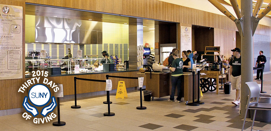 SUNY ESF cafeteria, 30 Days of Giving