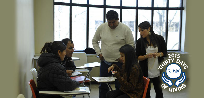 Purchase students providing ESOL class to adult students.