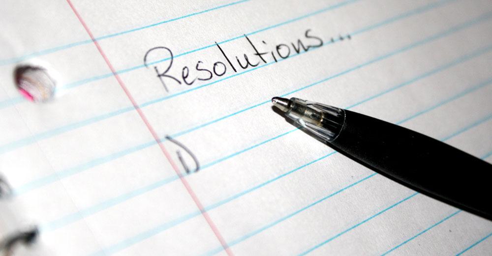 Resolutions written on paper