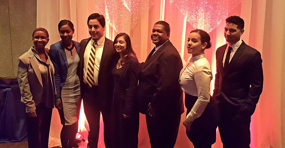EOP students at Black and Puerto Rican Legislator Caucus gala.