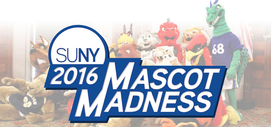 Mascot Madness 2016 logo with mascots in background