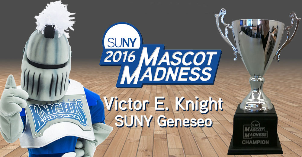 Mascot Madness 2016 winner - Victor E Knight of SUNY Geneseo