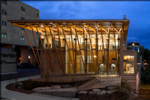 ESF's Gateway Center has received a Platinum LEED Certification.