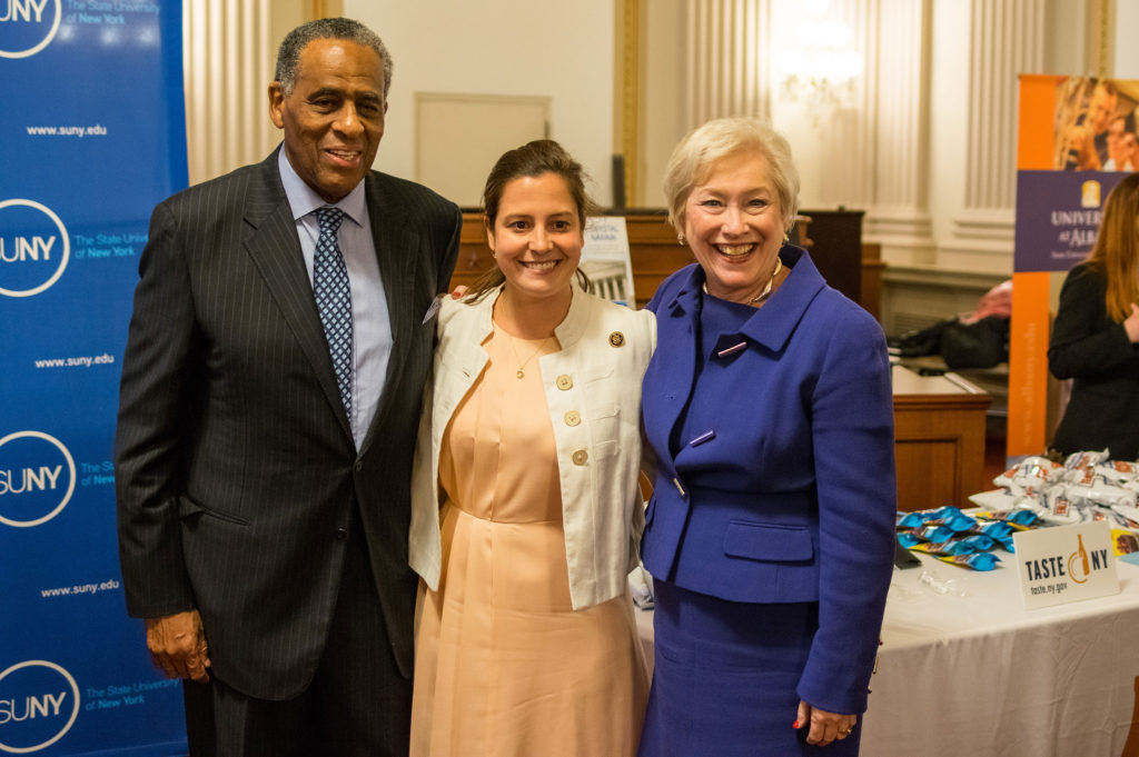 Congresswoman Stefanik at the SUNY Day Reception with Chairman Carl McCall and Chancellor Nancy Zimpher