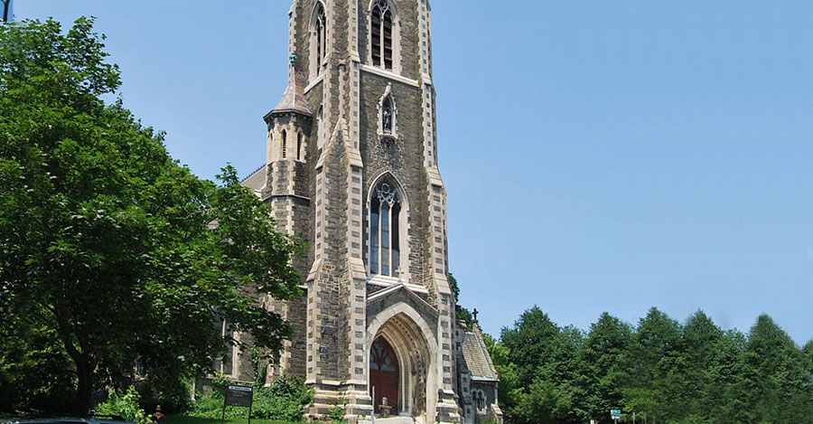 Saint Joseph's Church in downtown Albany's Ten Broeck Triangle
