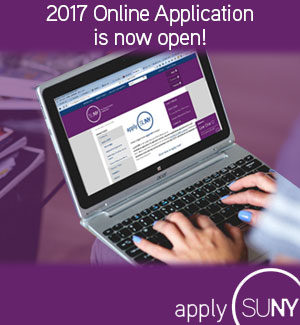 The 2017 SUNY Online Application is now open. Apply today!