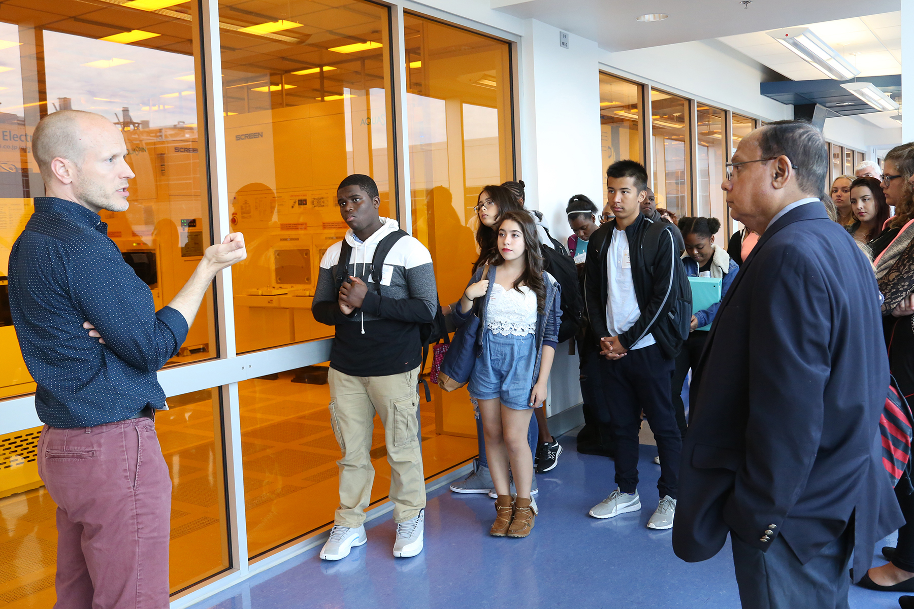 Elementary students get a tour of SUNY Poly Nanotech Center in Albany.
