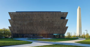 The Smithsonian African American History museum exterior