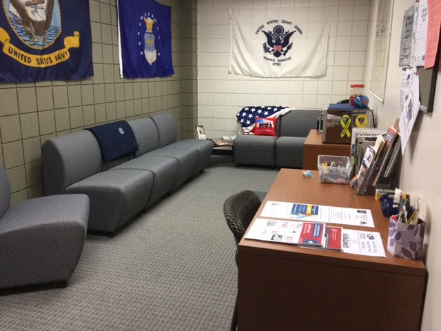 Niagara County Community College veterans lounge