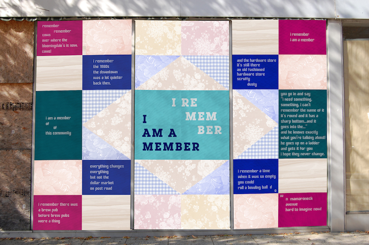 SUNY Purchase art - I Remember, This Community: Design by Danielle Foti Poetry by Judith Sloan