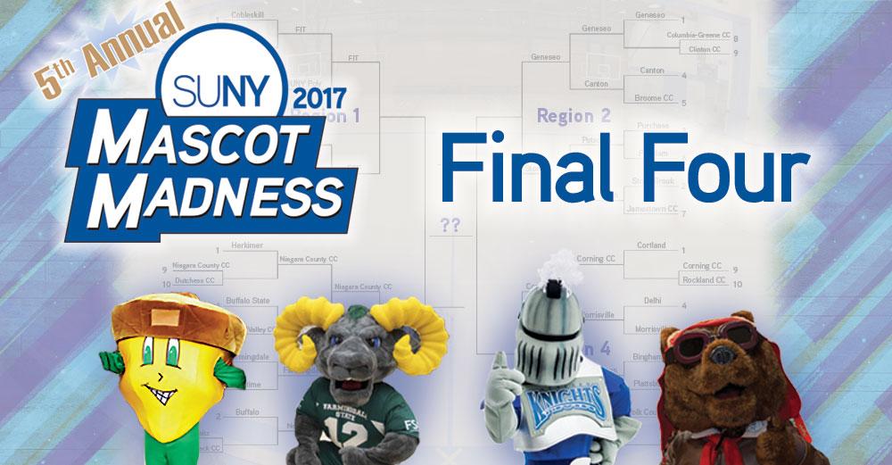 2017 Mascot Madness final four header