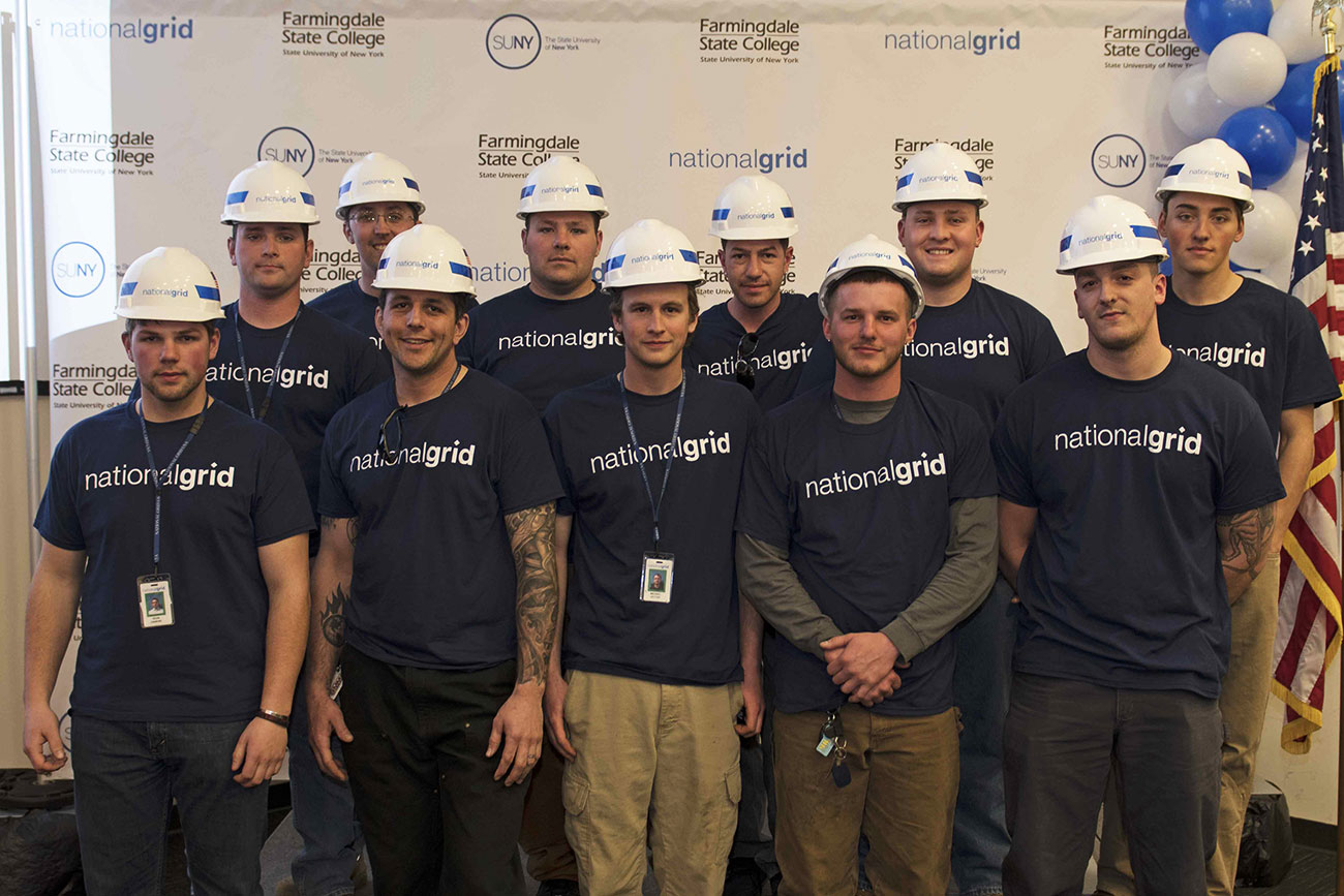 Farmingdale State College National Grid certificate program graduates