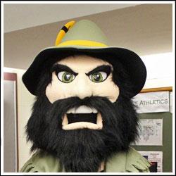 Columbia-Greene Community College mascot RIP Van Winkle