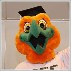 Rockland Community College mascot Rocky Hawk
