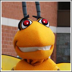 Broome Community College mascot Stinger