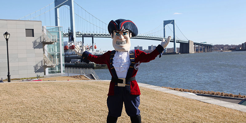 Privateer Pete welcomes you to Maritime College