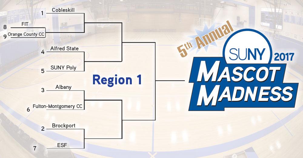 Mascot Madness 2017 region 1