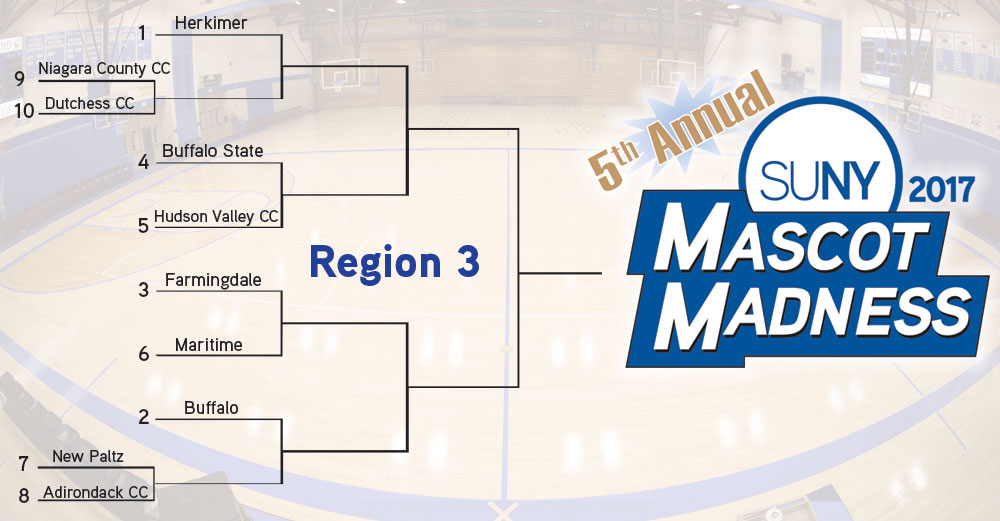 Mascot Madness 2017 Region 3 bracket