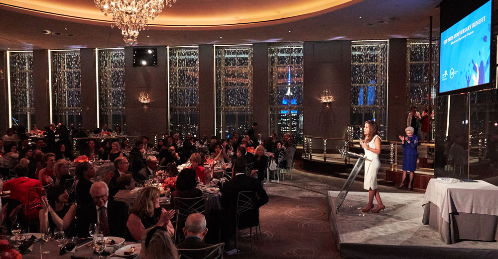 Sunny Hostin speaks to the attendees at the SUNY EOP 50th Anniversary Benefit Dinner at the Rainbow Room in NYC.