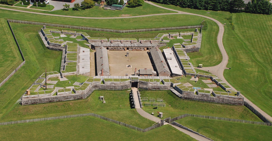 Aerial view of Fort Stanwix in Rome, NY.