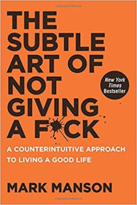 The Subtle Art of Not Giving a F*ck book cover.