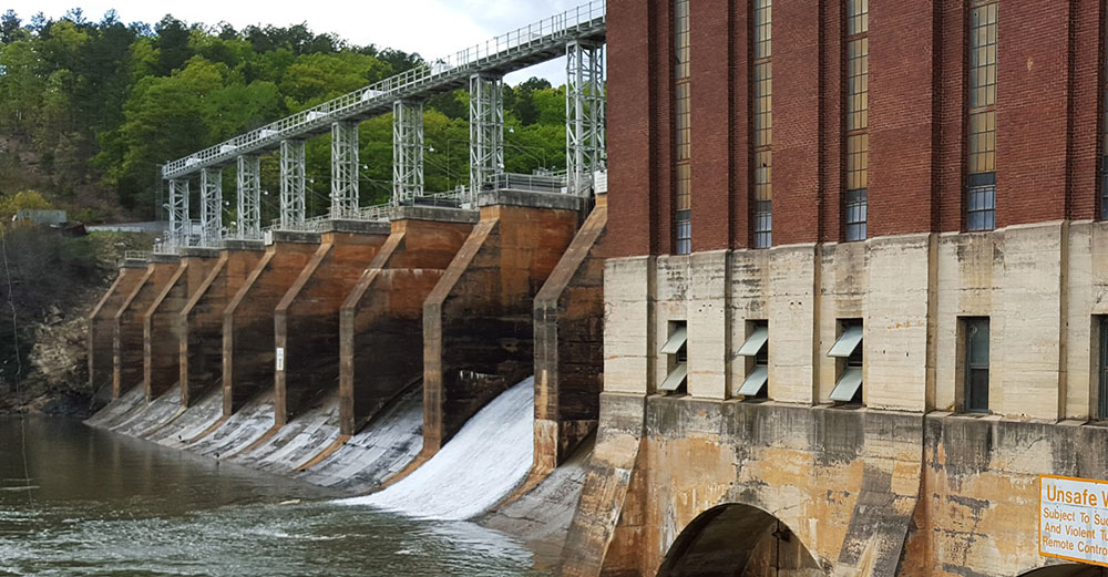 High Rock hydropower facility in North Carolina.