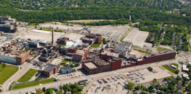 Eastman Business Park aerial view.