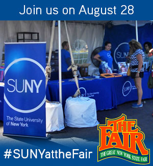 Join SUNY at the NYS Fair on August 28 for SUNY Day.
