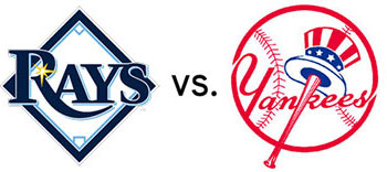 Tampa Bay Rays logo versus New York Yankees logo