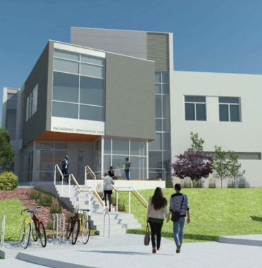 Rendering of the New Paltz Engineering Innovation Hub.