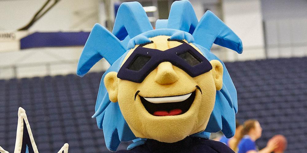 Onondaga Community College mascot Blaze.
