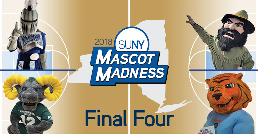 2018 SUNY Mascot Madness Final Four header