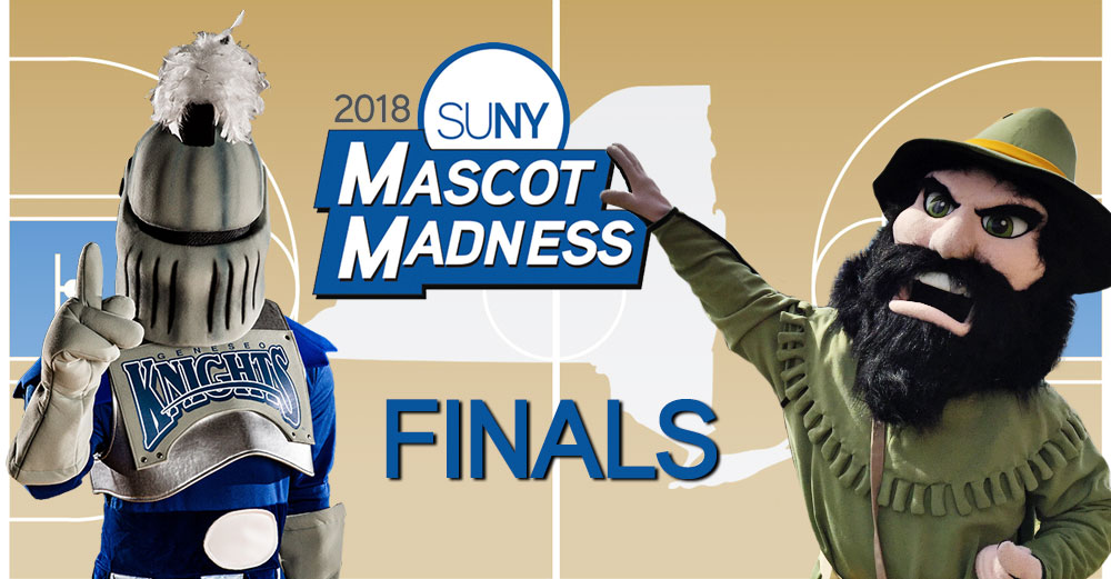 2018 Mascot Madness finals - Victor Knight of Geneseo vs Rip Van Winkle of Columbia-Greene CC