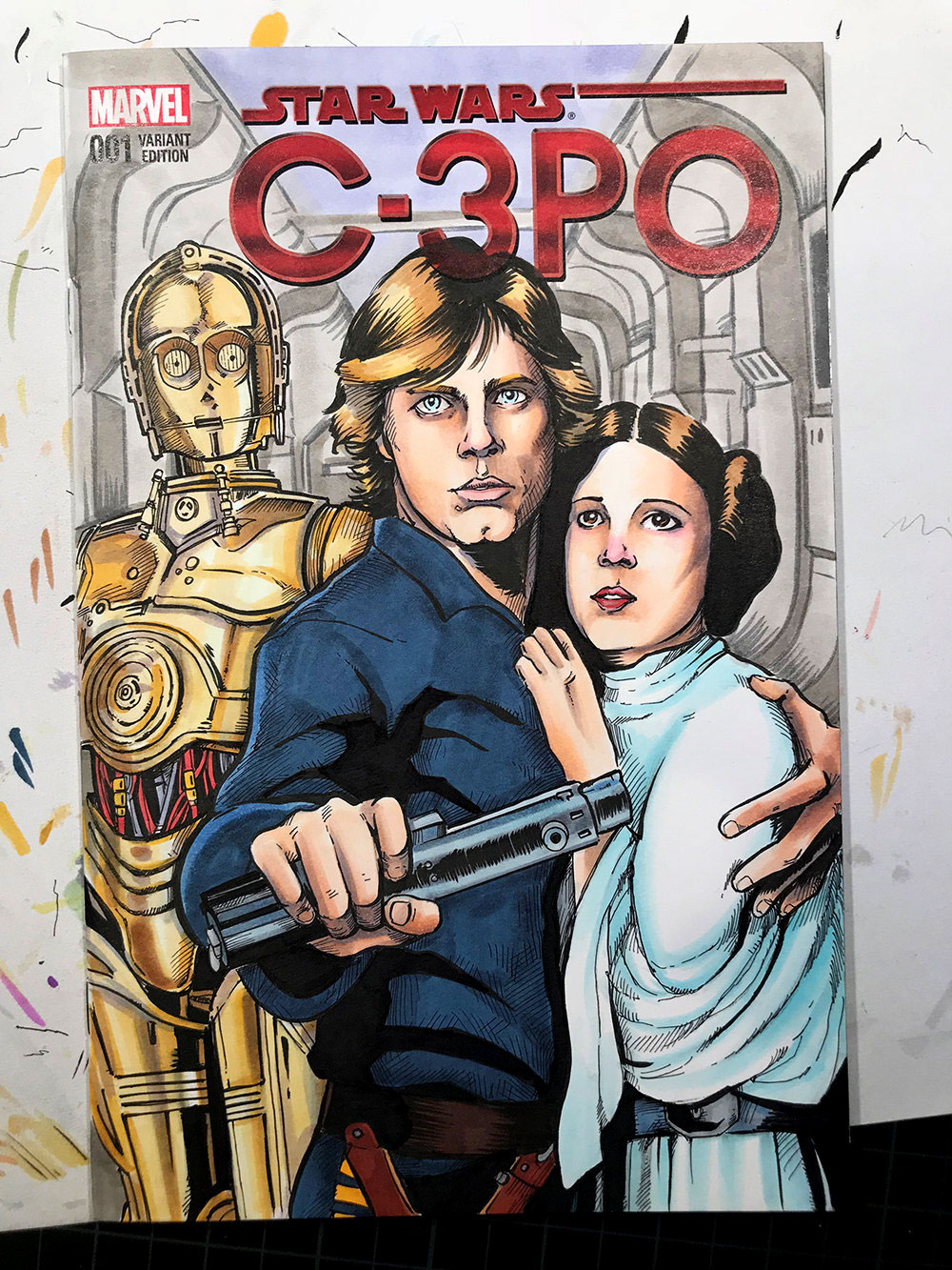 Star Wars C-3PO comic cover for Marvel