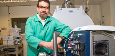 University at Albany's Dr. Daniele Fabris in his lab.