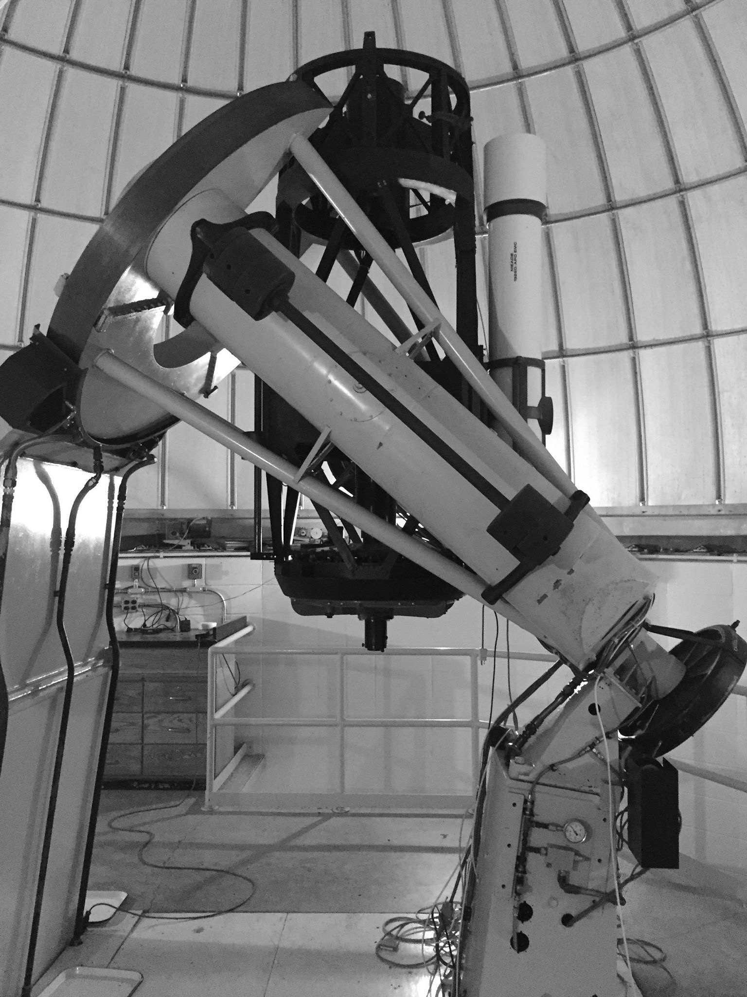 Corning Community College's one-tenth scale model of the 200-inch Hale Telescope at Mt. Palomar, CA
