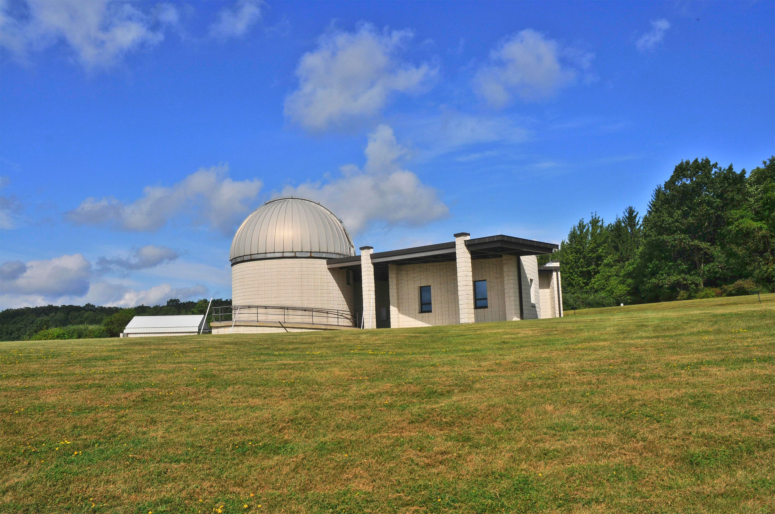 The Eileen Collins Observatory at Corning Community College.