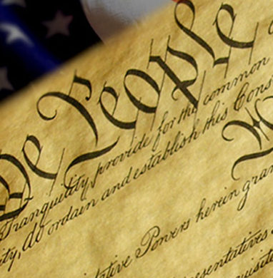 US Constitution header, with We The People showing.