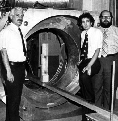 The first MRI machine at Downstate MEdical Center.