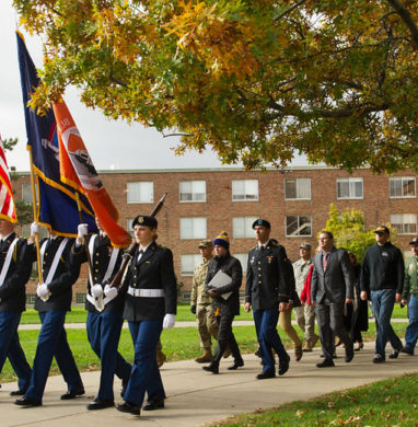 2017 Veteran's Day Silent March at Buffalo State College.