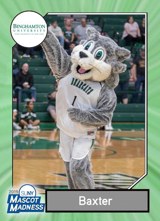 Baxter Bearcat, Binghamton University mascot sportscard